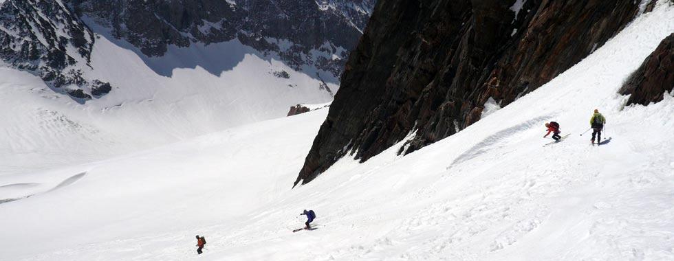 Free ride en los Alpes